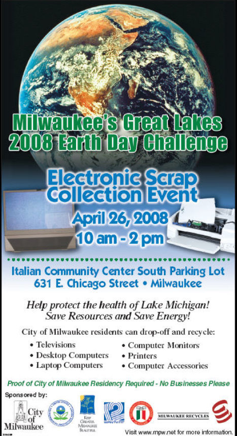 Milwaukee's Great Lakes 2008 Earth Day Challenge